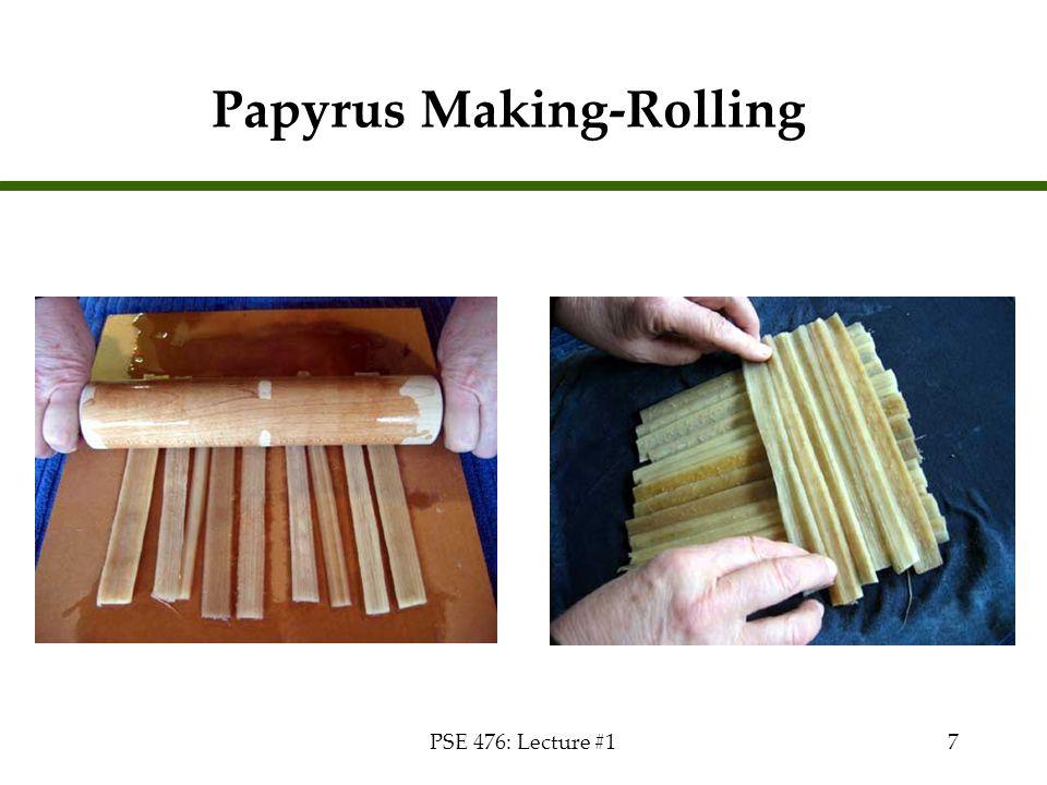 Papyrus Making-Rolling