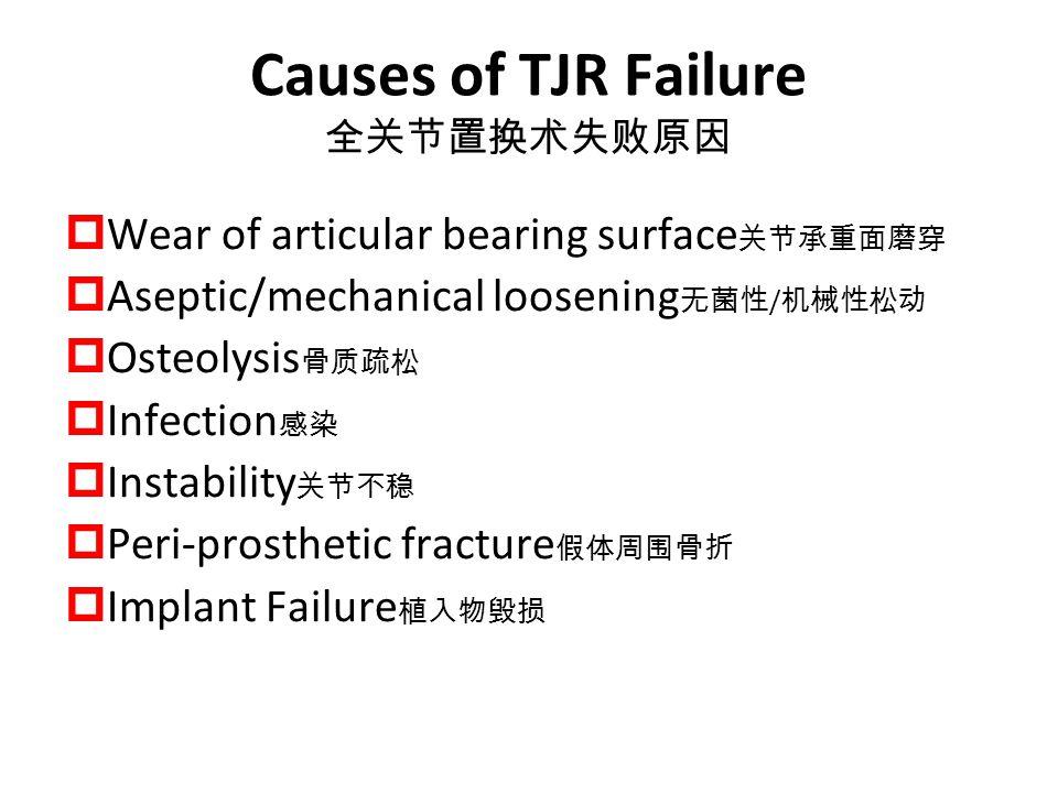 Causes of TJR Failure 全关节置换术失败原因