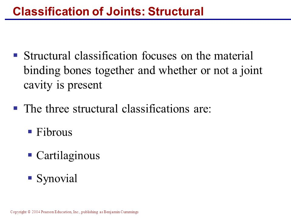 Classification of Joints: Structural