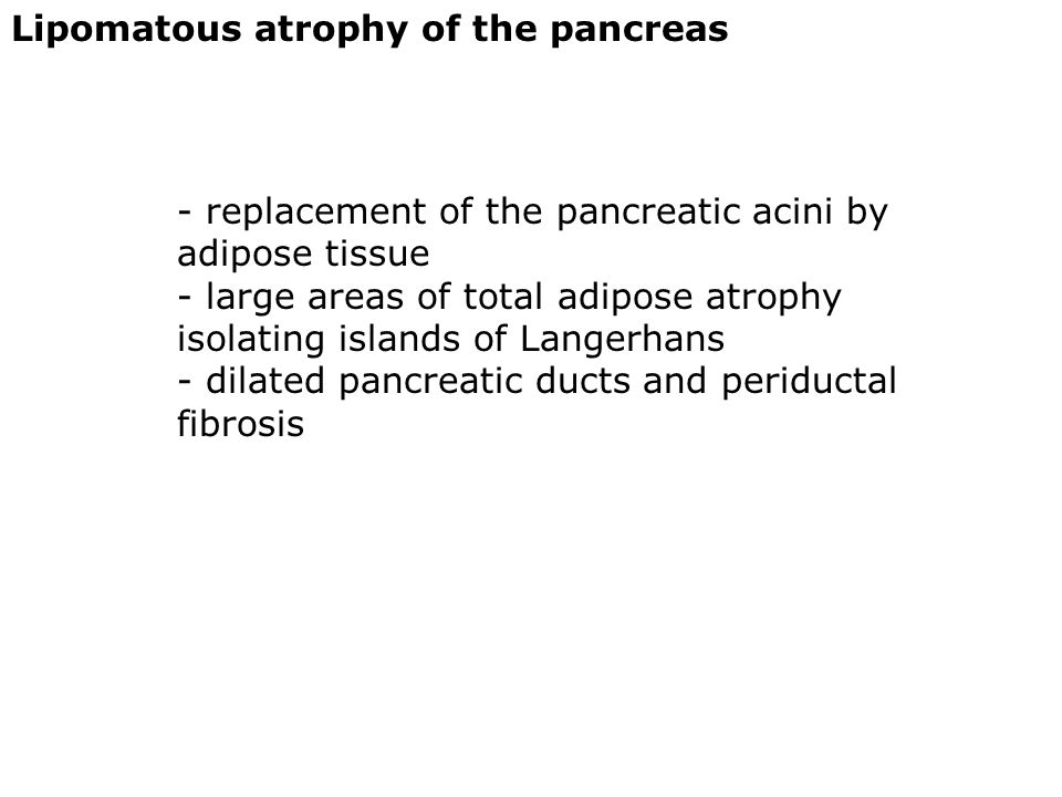 Lipomatous atrophy of the pancreas