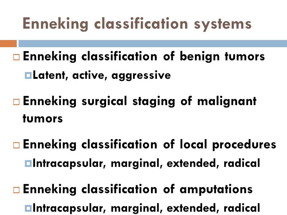 Enneking classification systems