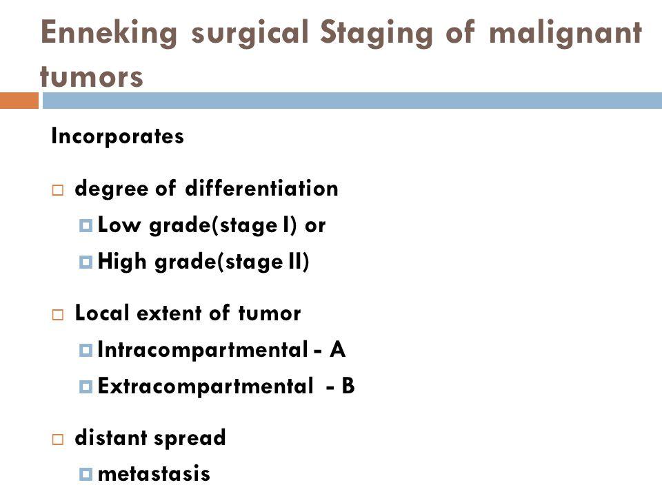 Enneking surgical Staging of malignant tumors