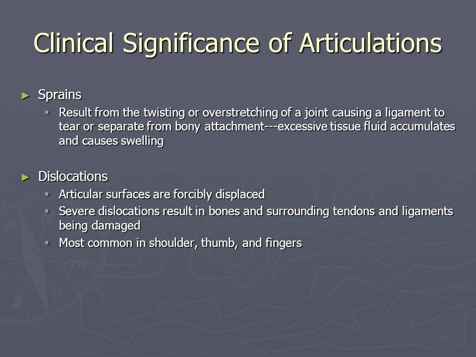 Clinical Significance of Articulations