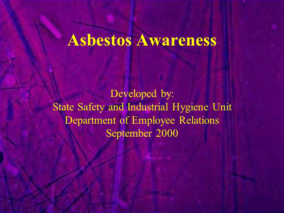 Asbestos Awareness Developed by: