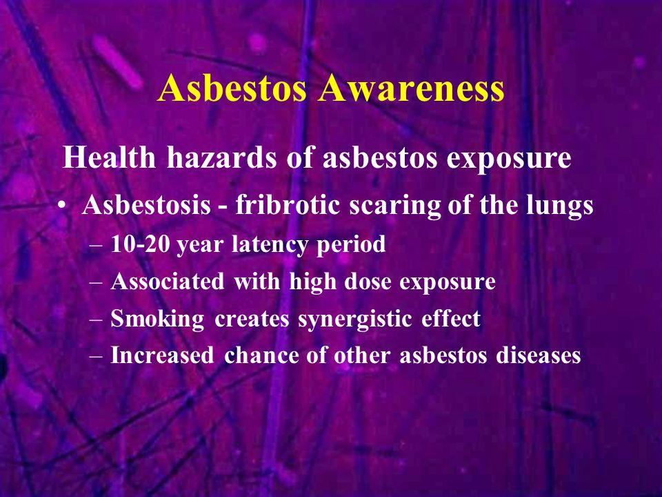 Asbestos Awareness Health hazards of asbestos exposure