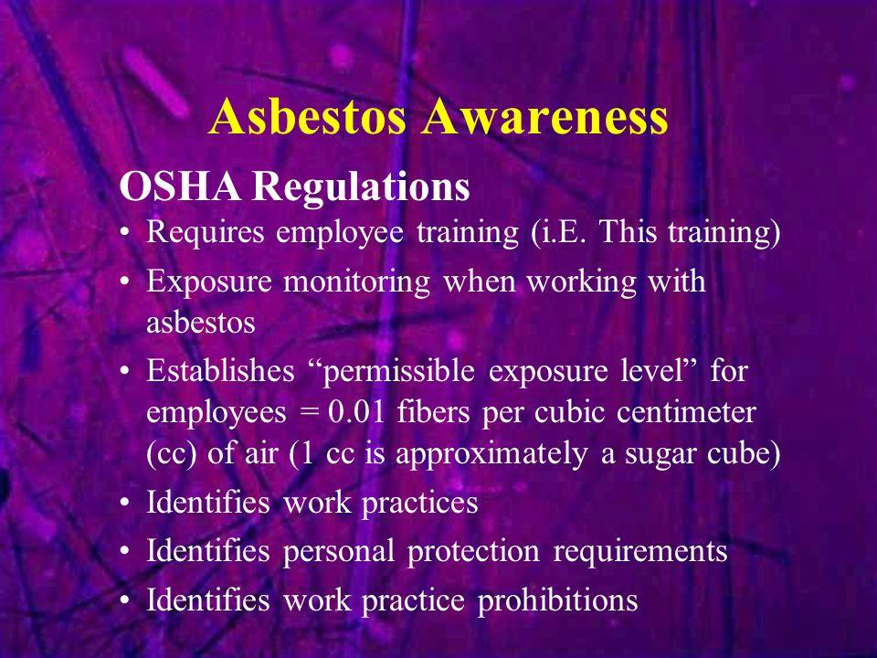 Asbestos Awareness OSHA Regulations
