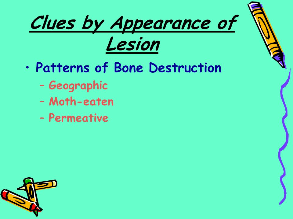 Clues by Appearance of Lesion