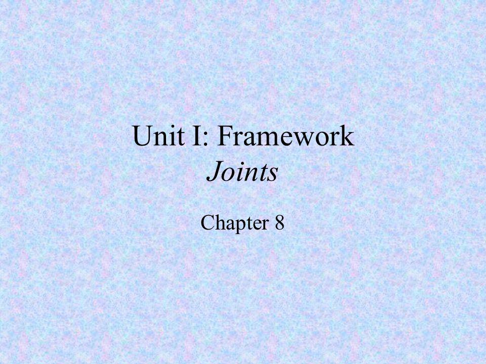 Unit I: Framework Joints