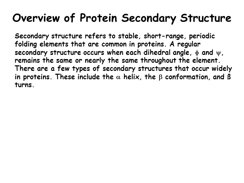 Overview of Protein Secondary Structure