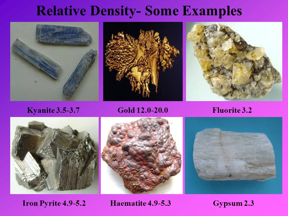 Relative Density- Some Examples