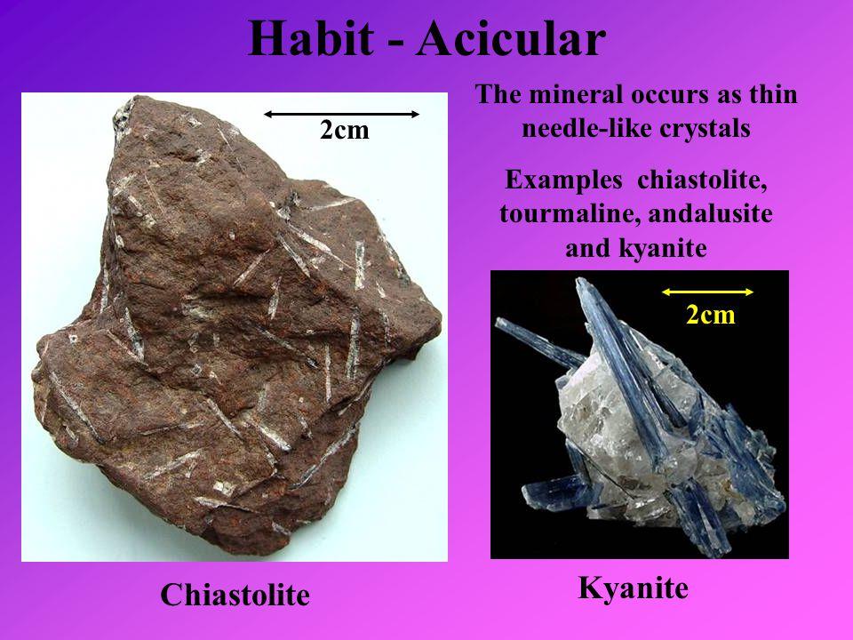 Habit - Acicular Kyanite Chiastolite