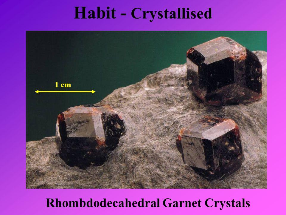 Rhombdodecahedral Garnet Crystals