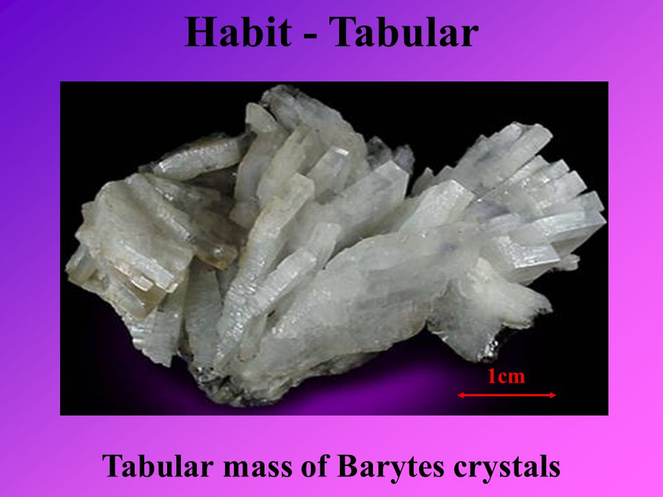 Tabular mass of Barytes crystals