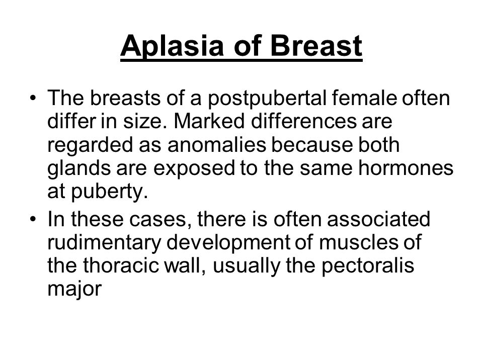 Aplasia of Breast
