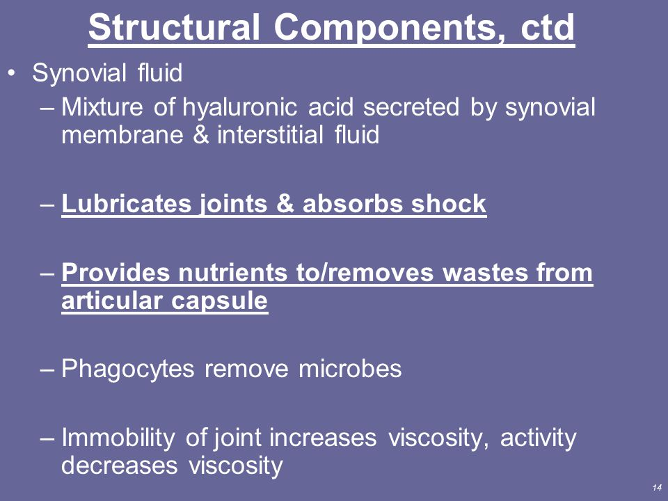 Structural Components, ctd