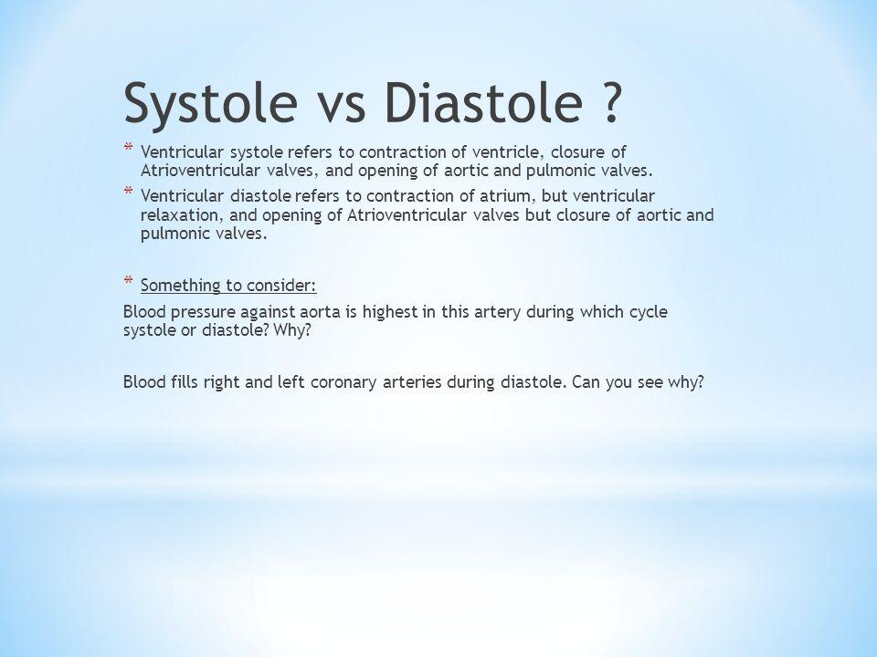 Systole vs Diastole