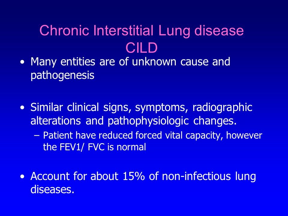 Chronic Interstitial Lung disease CILD