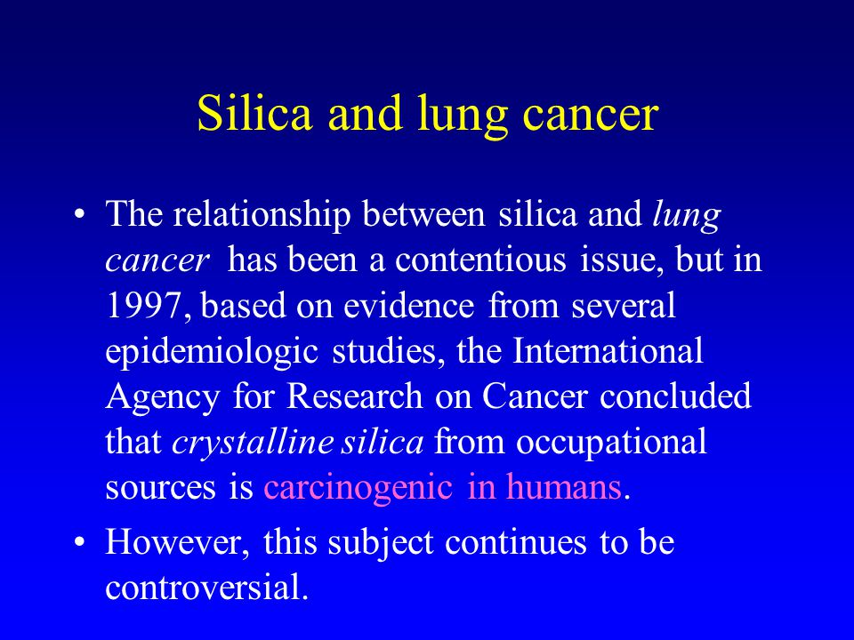 Silica and lung cancer