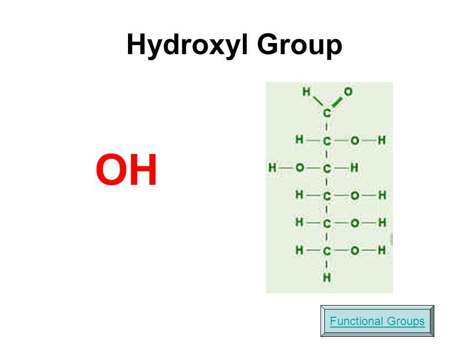 OH Hydroxyl Group Functional Groups