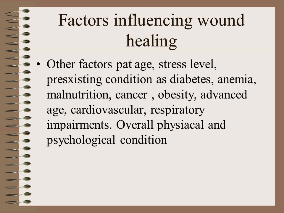 Factors influencing wound healing