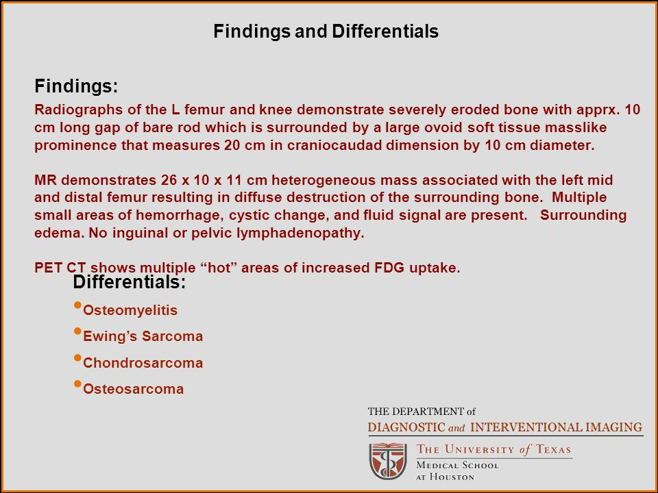 Findings and Differentials