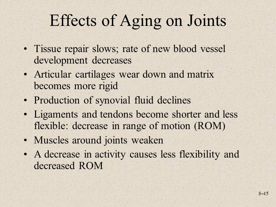 Effects of Aging on Joints