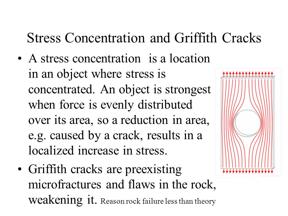 Stress Concentration and Griffith Cracks