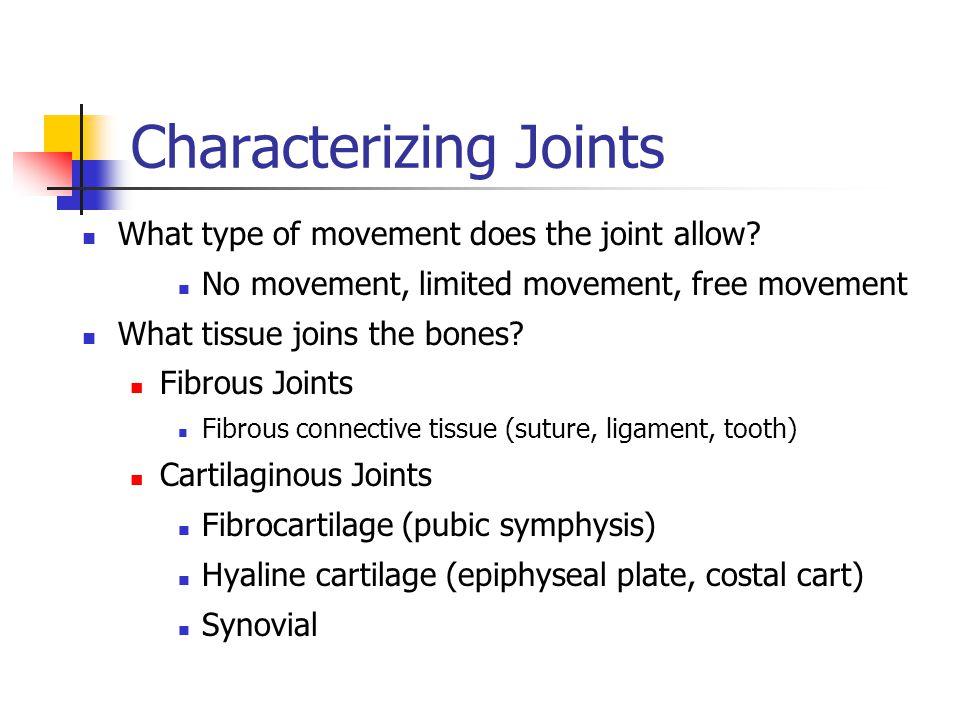 Characterizing Joints