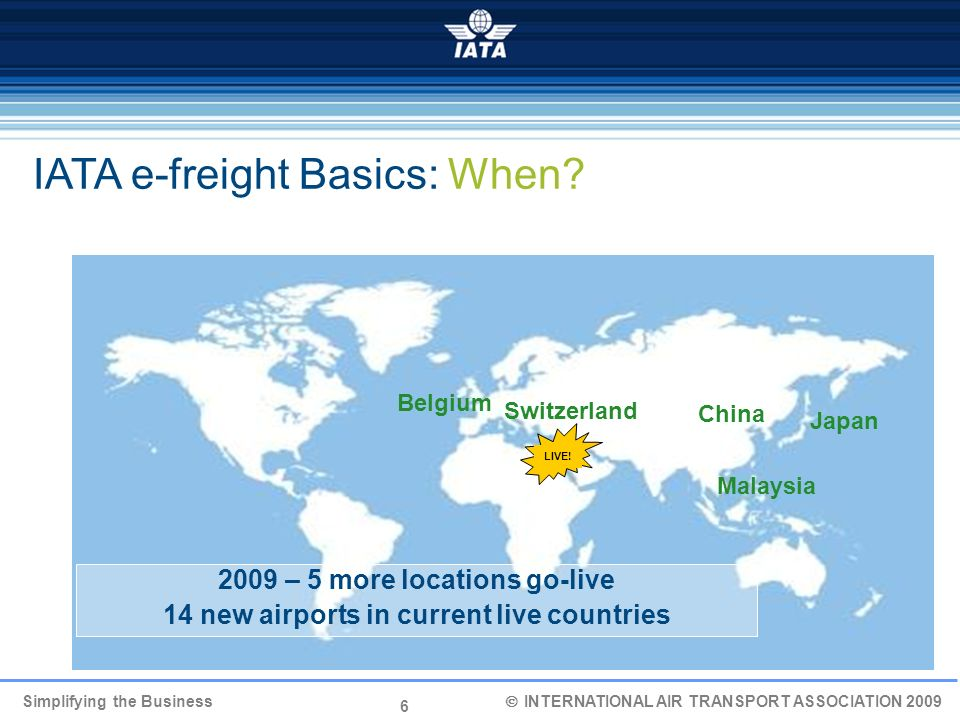 IATA e-freight Basics: When