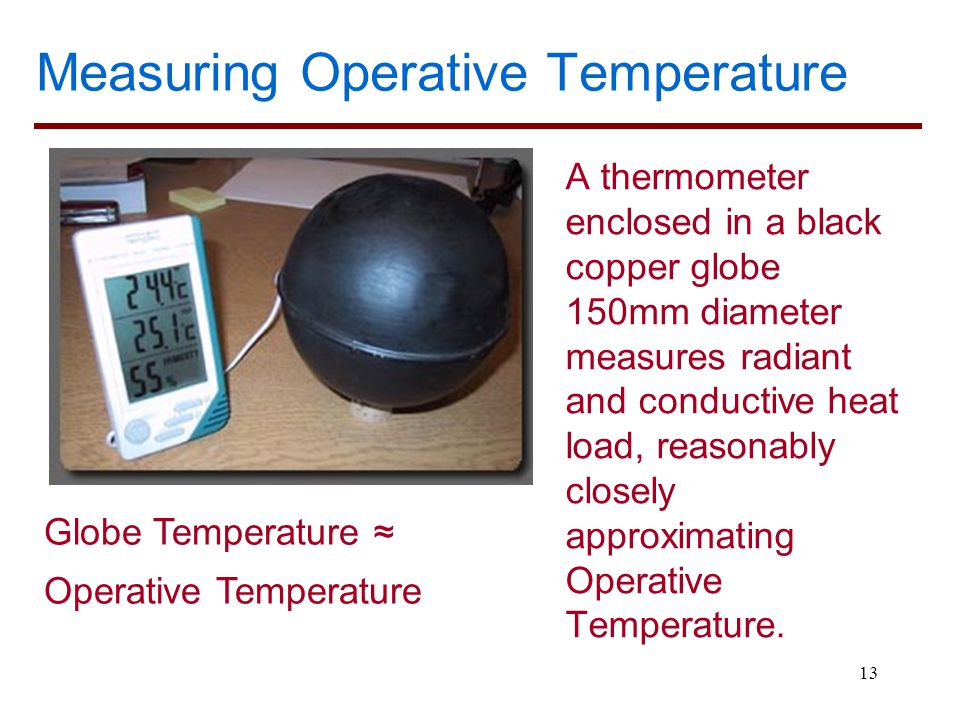 Measuring Operative Temperature