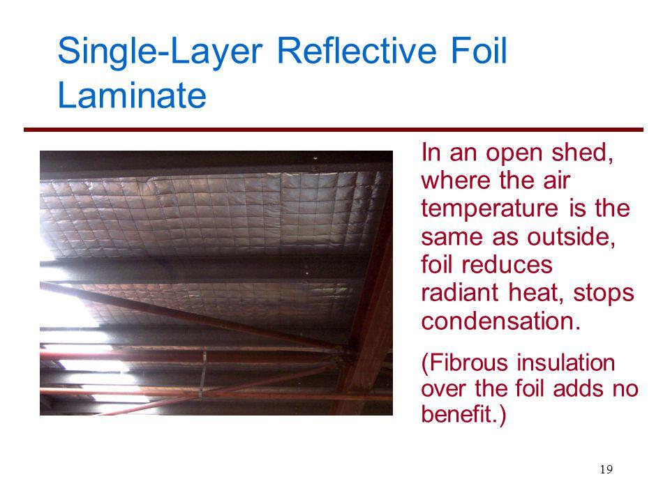 Single-Layer Reflective Foil Laminate