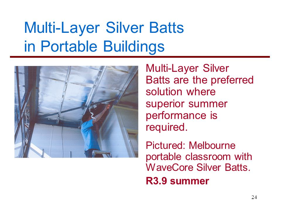 Multi-Layer Silver Batts in Portable Buildings
