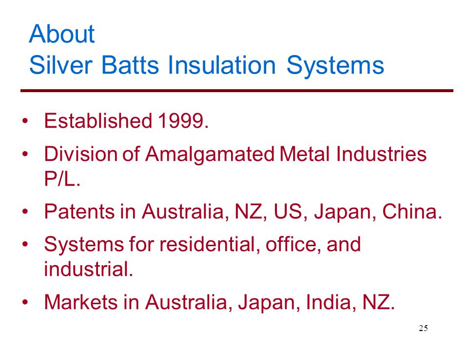 About Silver Batts Insulation Systems