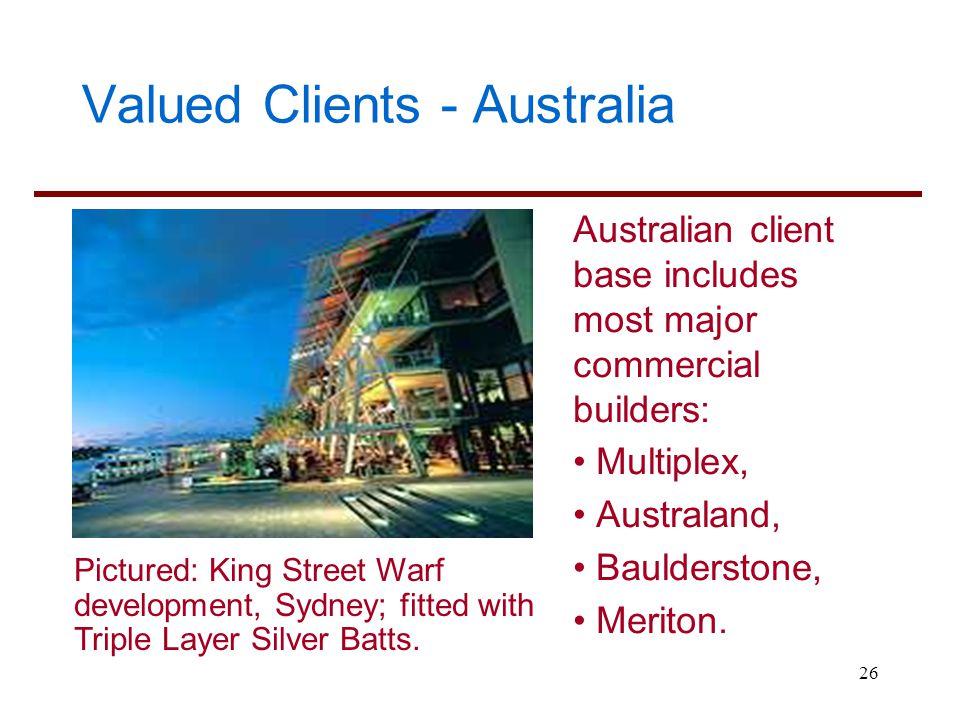 Valued Clients - Australia