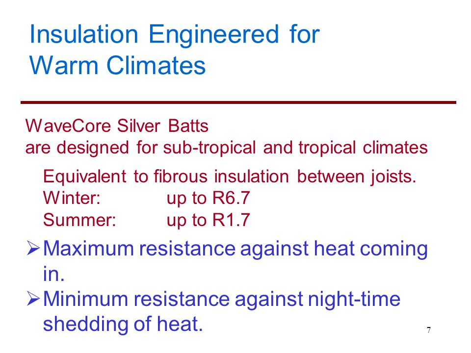 Insulation Engineered for Warm Climates