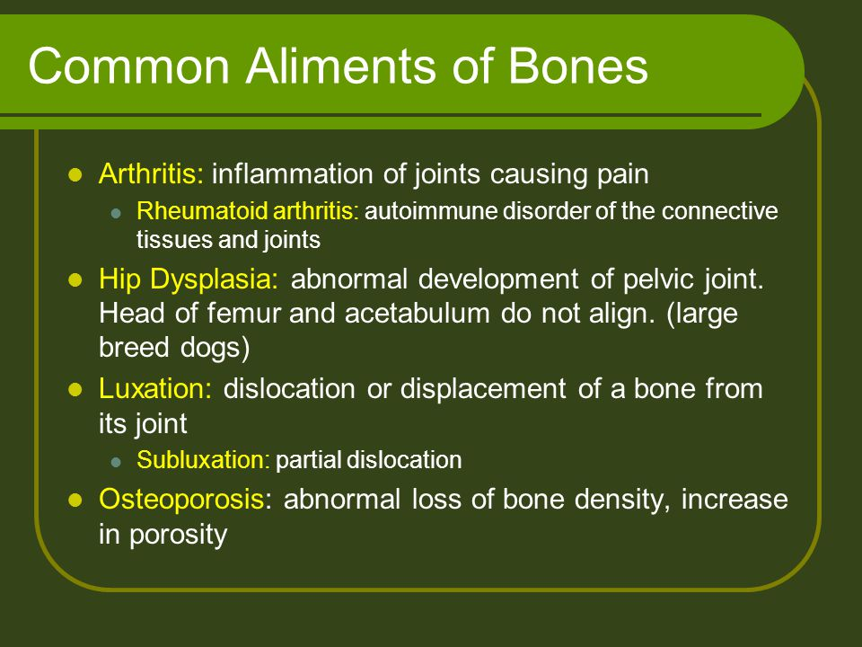 Common Aliments of Bones