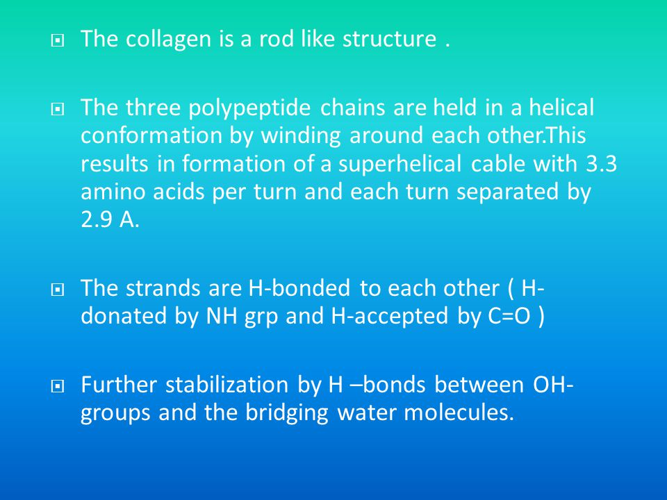 The collagen is a rod like structure .