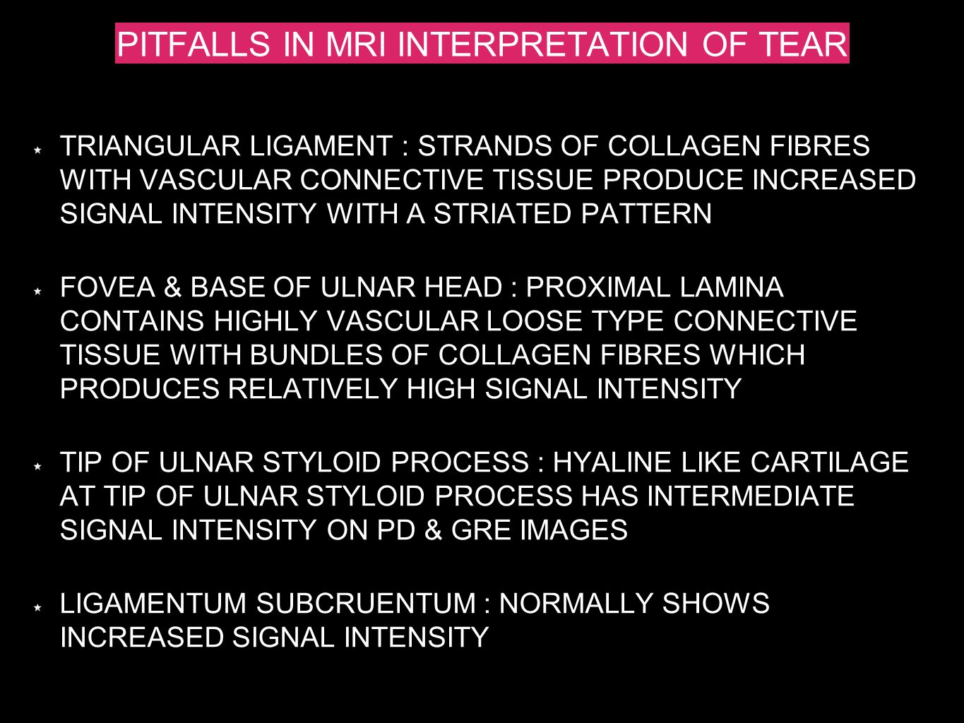PITFALLS IN MRI INTERPRETATION OF TEAR