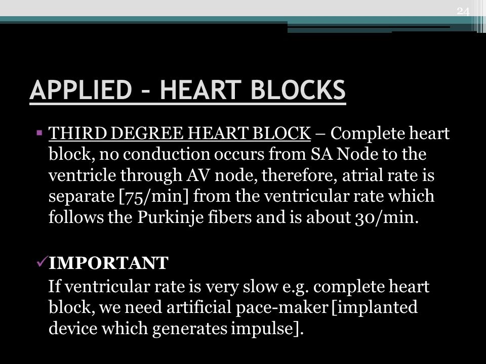 APPLIED – HEART BLOCKS