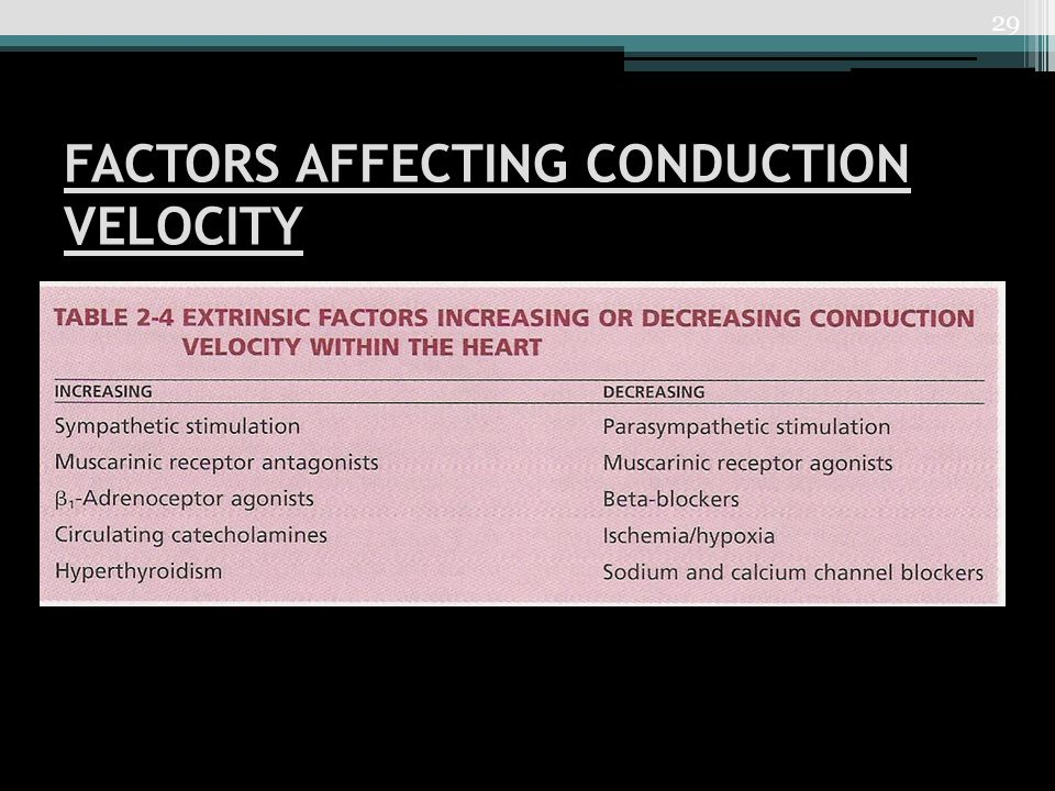 FACTORS AFFECTING CONDUCTION VELOCITY