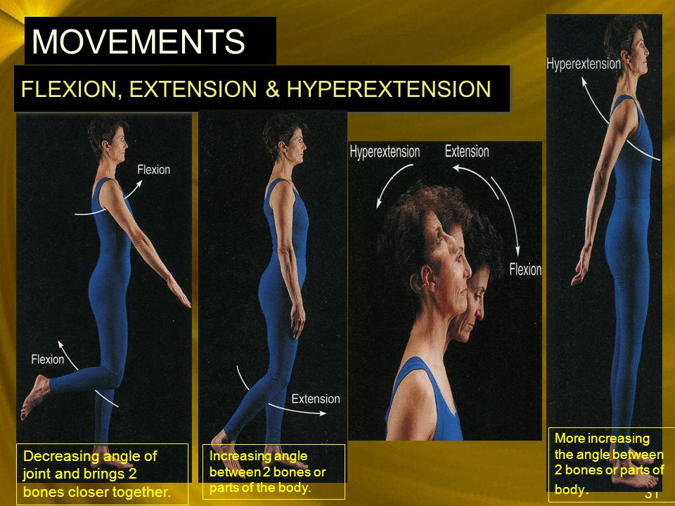 FLEXION, EXTENSION & HYPEREXTENSION
