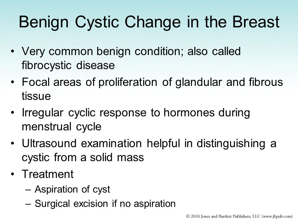 Benign Cystic Change in the Breast