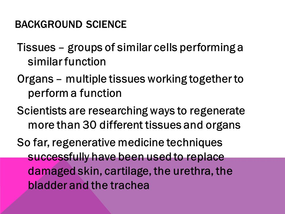 Background Science