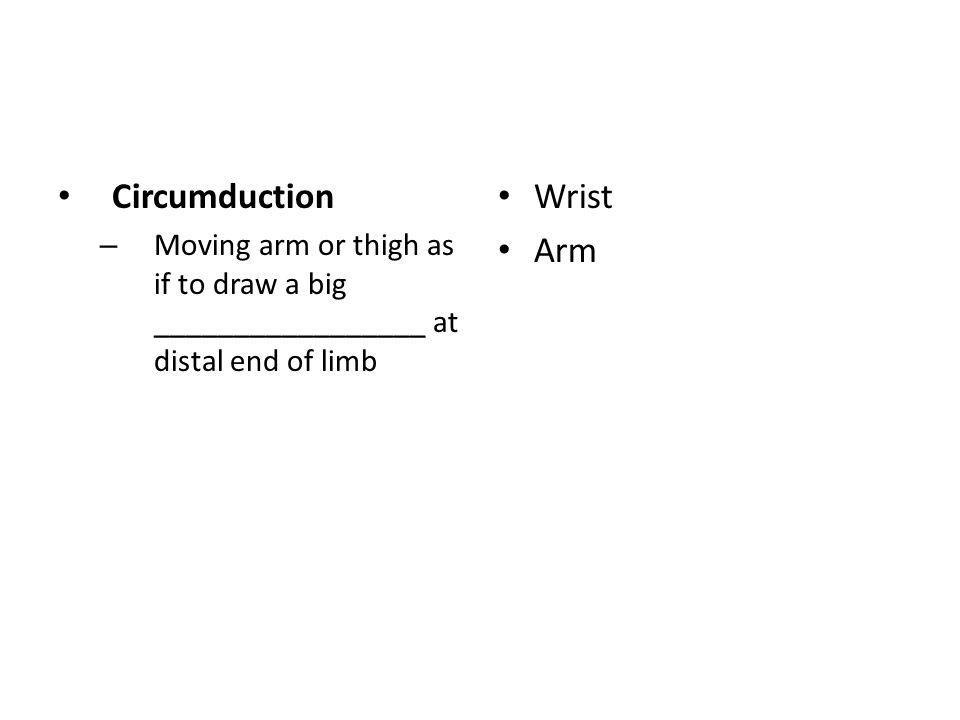 Circumduction Wrist Arm