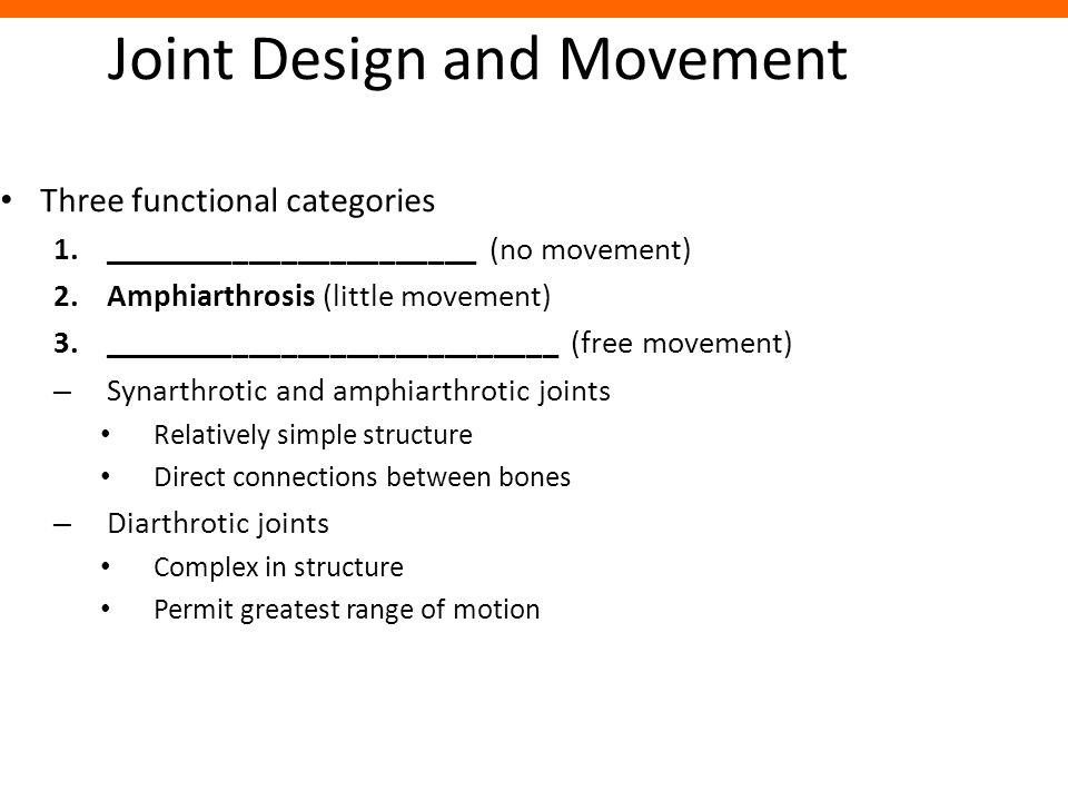 Joint Design and Movement