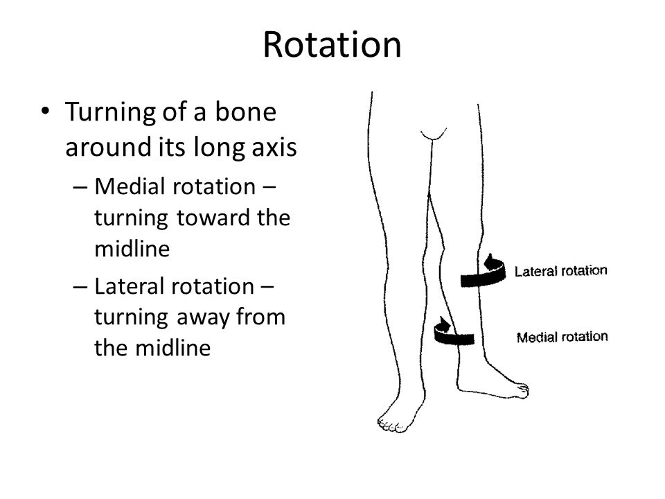 Rotation Turning of a bone around its long axis