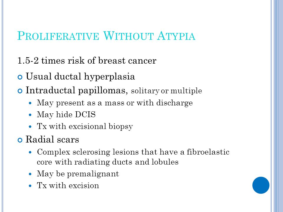 Proliferative Without Atypia