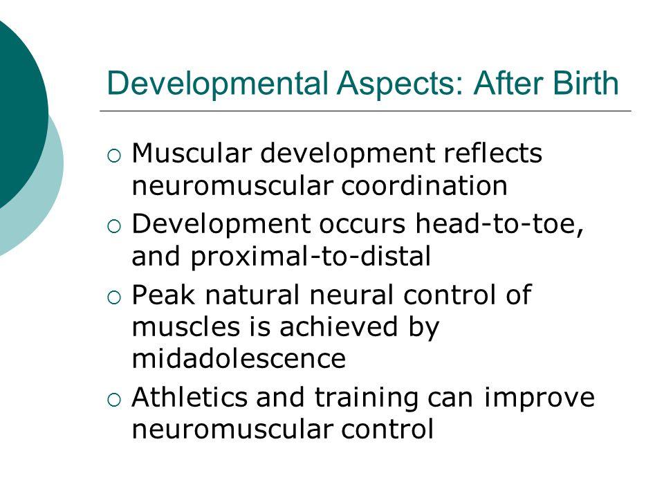 Developmental Aspects: After Birth