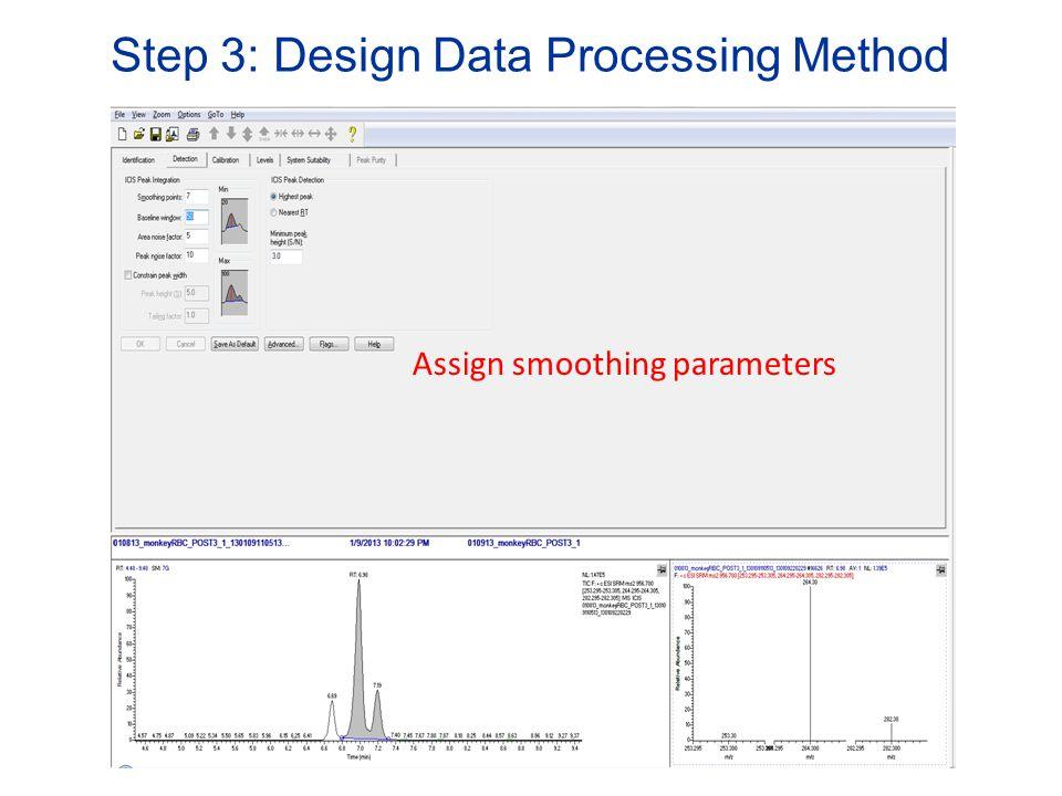 Step 3: Design Data Processing Method