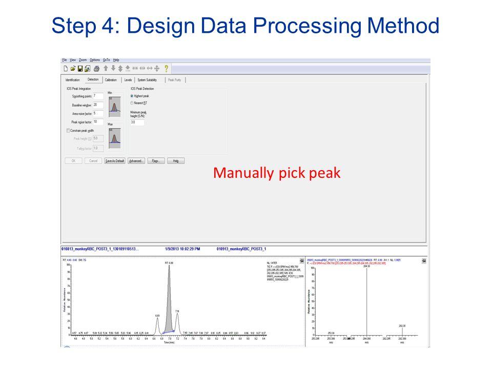 Step 4: Design Data Processing Method